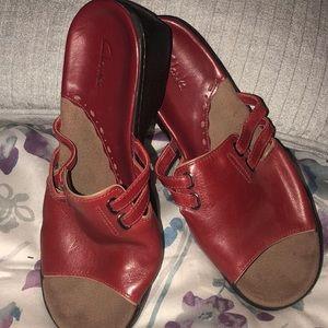 Red CLARK Sandals